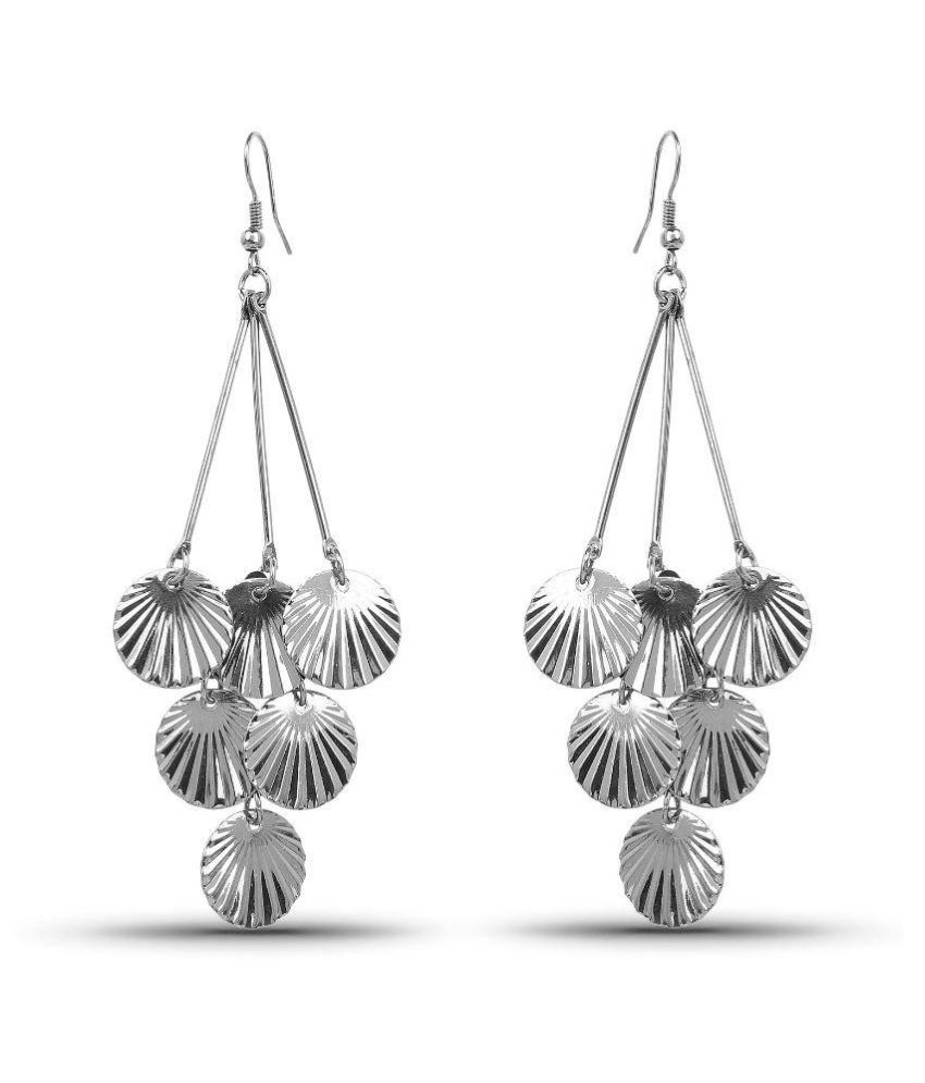 Johareez Silver Hangings Beautiful Dangle Earrings For Women