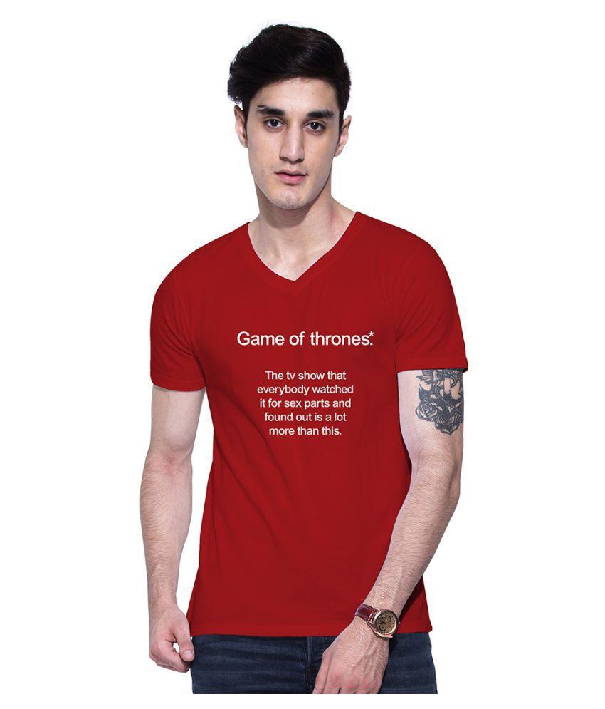 Uptown 18 Maroon V-Neck T-Shirt