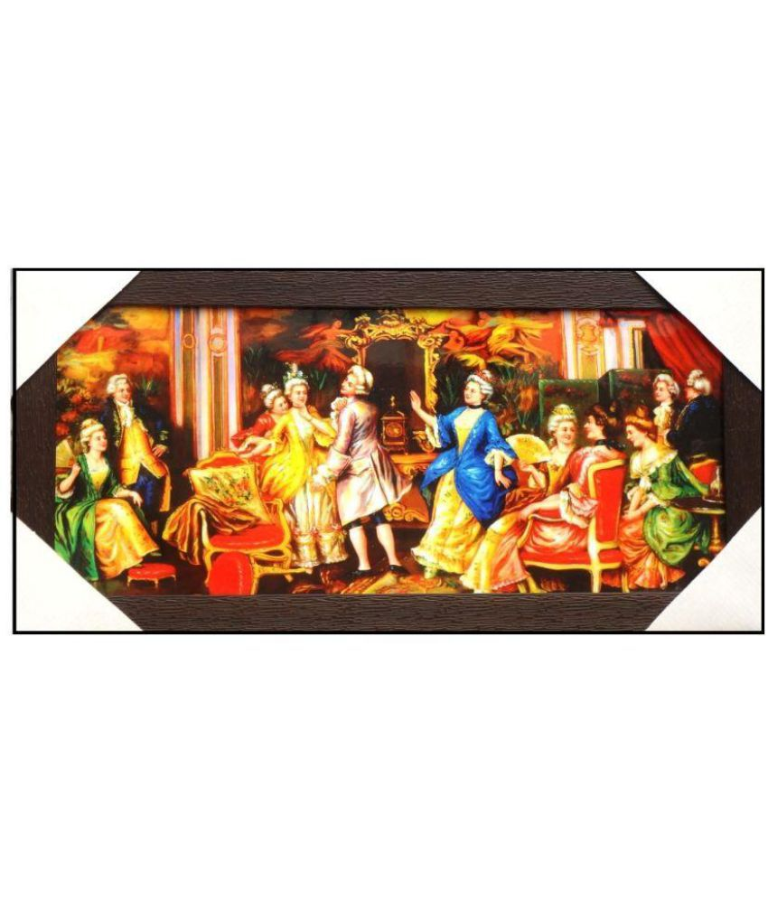 Amazing Collections English Family Party Scene Acrylic Art Prints With Frame Single Piece