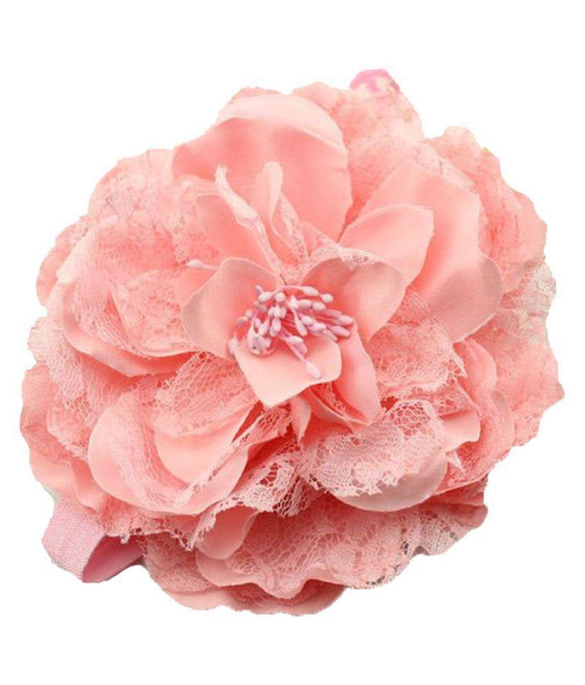 Bellazaara Pink Big Flower Lace Headband Buy Online At Low Price In