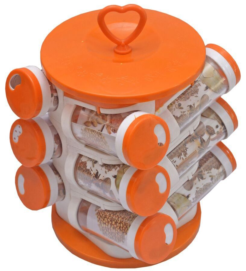 Magikware Revolving Spice Container Rack - Set of 12