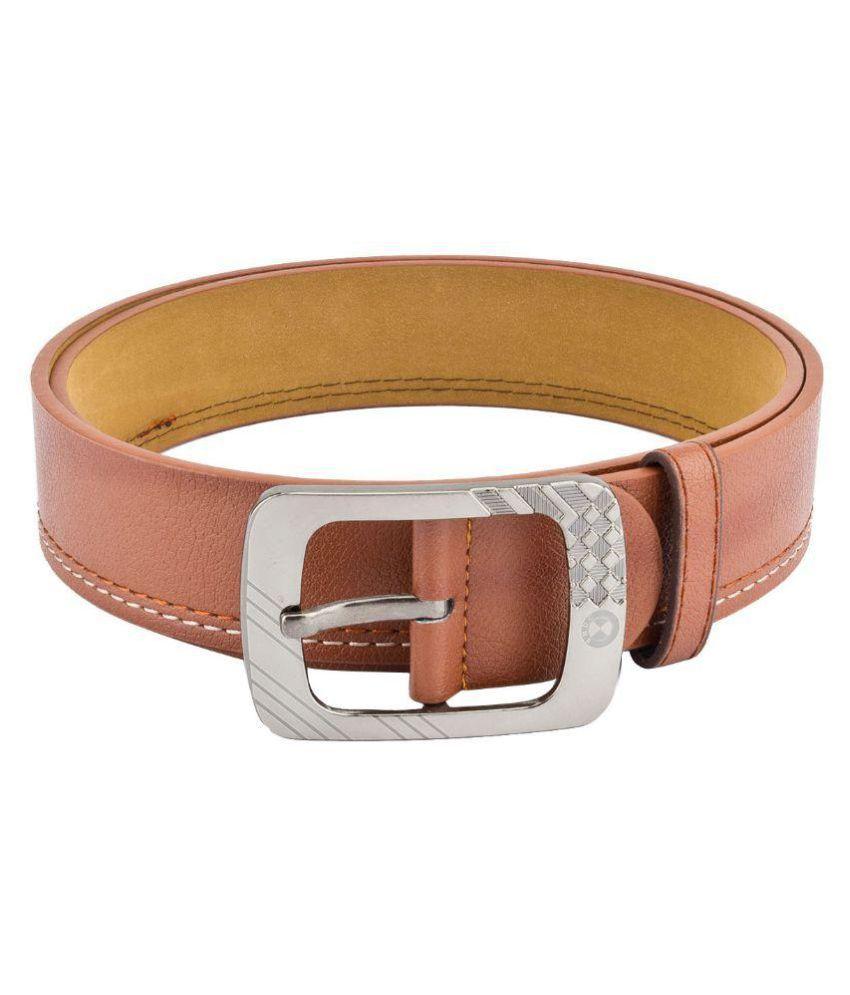 Mango People Tan Leather Casual Belts