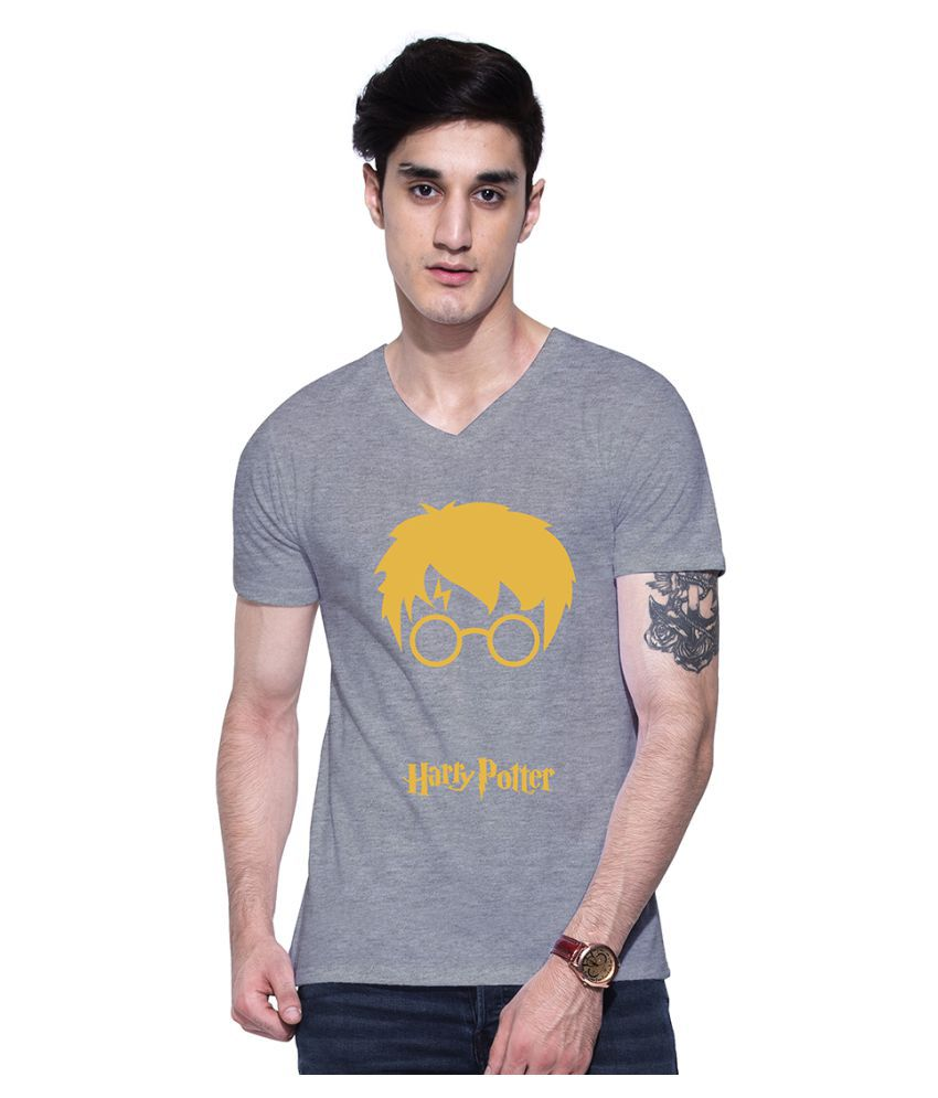 Uptown 18 Grey V-Neck T-Shirt