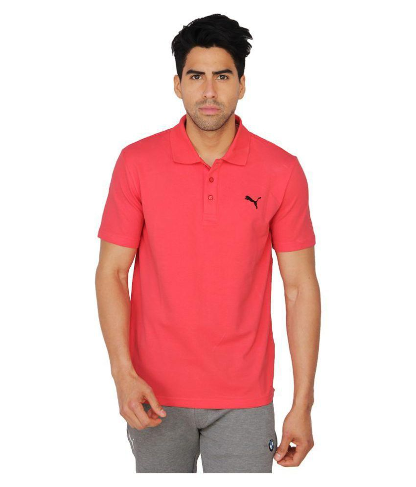 Puma Mens Red Solid T-Shirt
