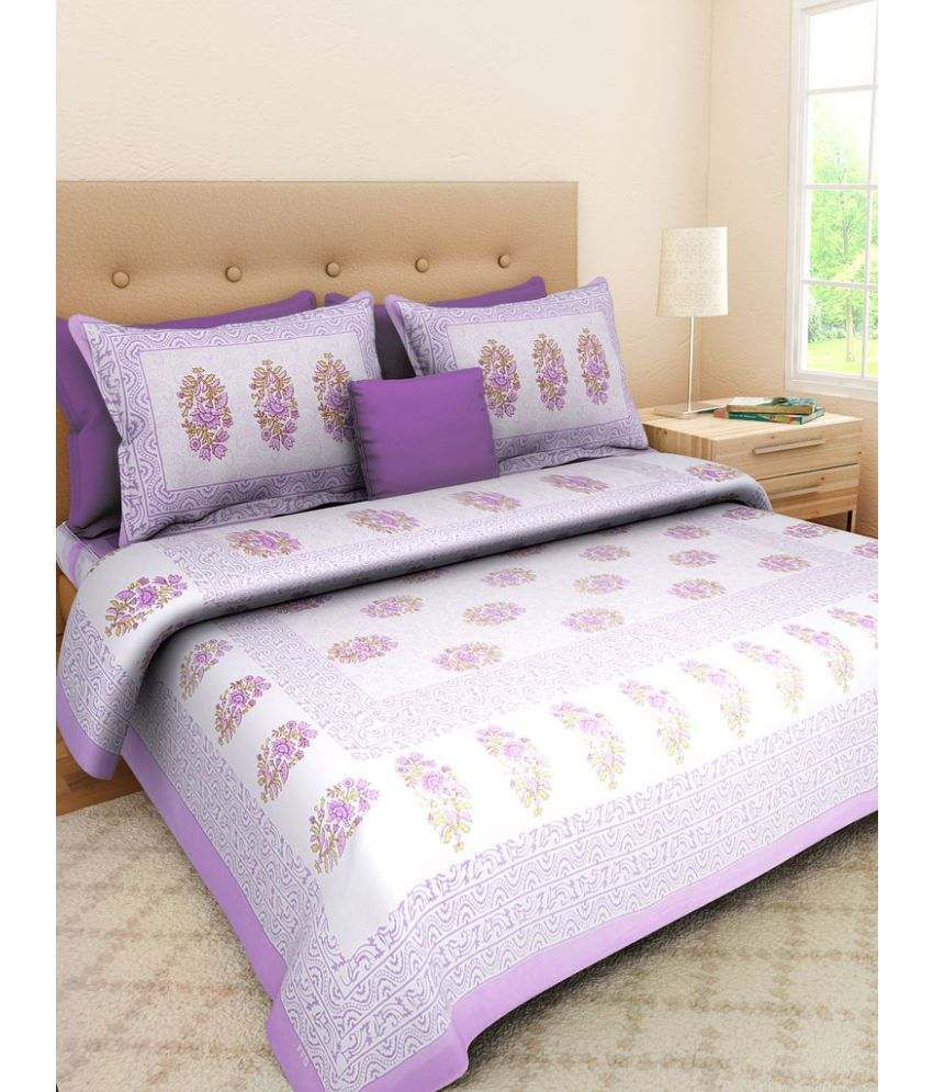 UniqChoice Double Cotton Printed Bed Sheet