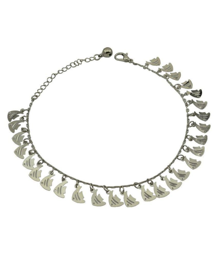 High Trendz Silver Alloy Anklet