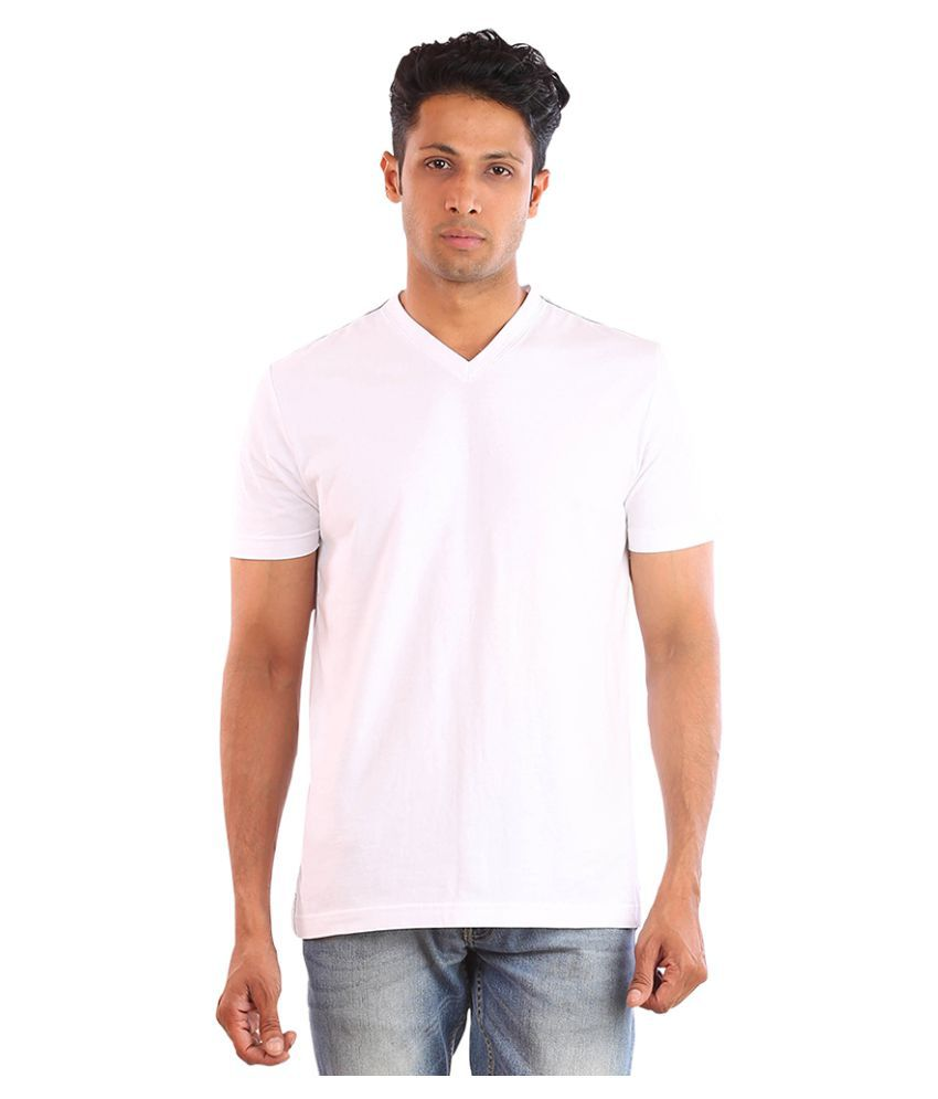 Huetrap White V-Neck T-Shirt