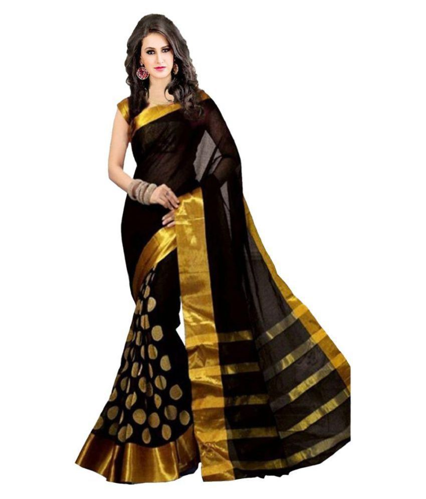 wama fashion black tussar silk saree buy wama fashion black wama fashion black tussar silk saree