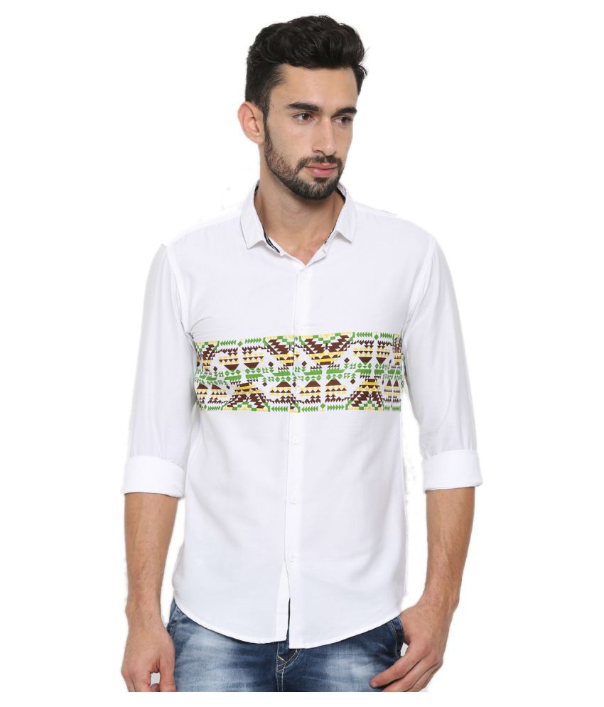 With White Casuals Slim Fit Shirt