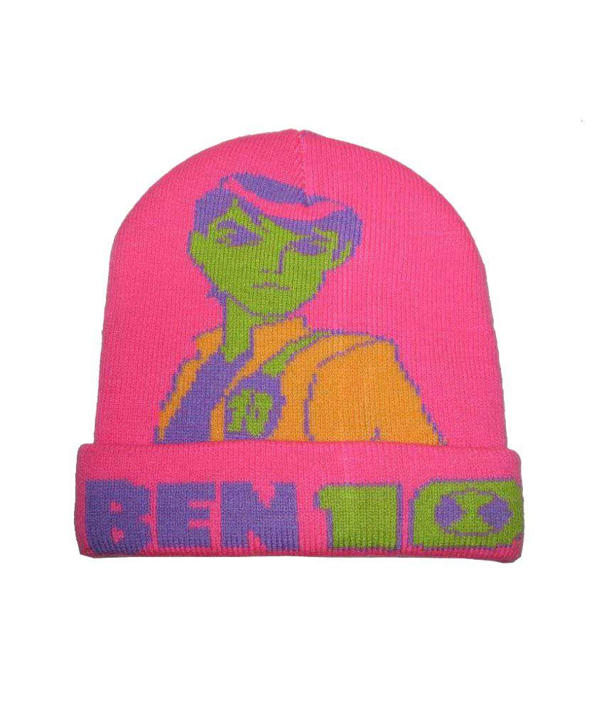 Goodluck Pink Wollen Cap for Kids