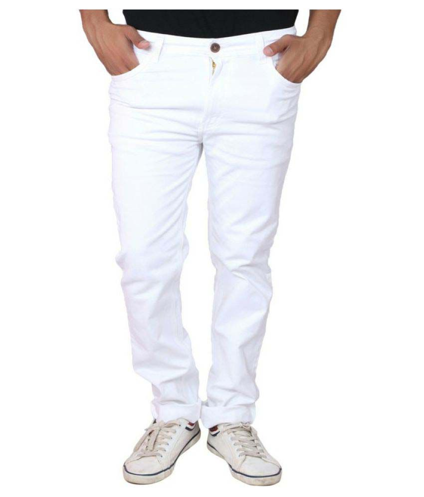 X20 White Skinny Solid Jeans