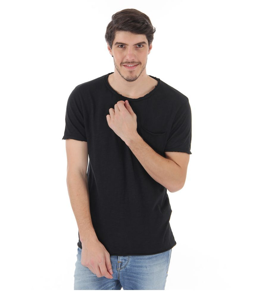 Selected Black Round T-Shirt