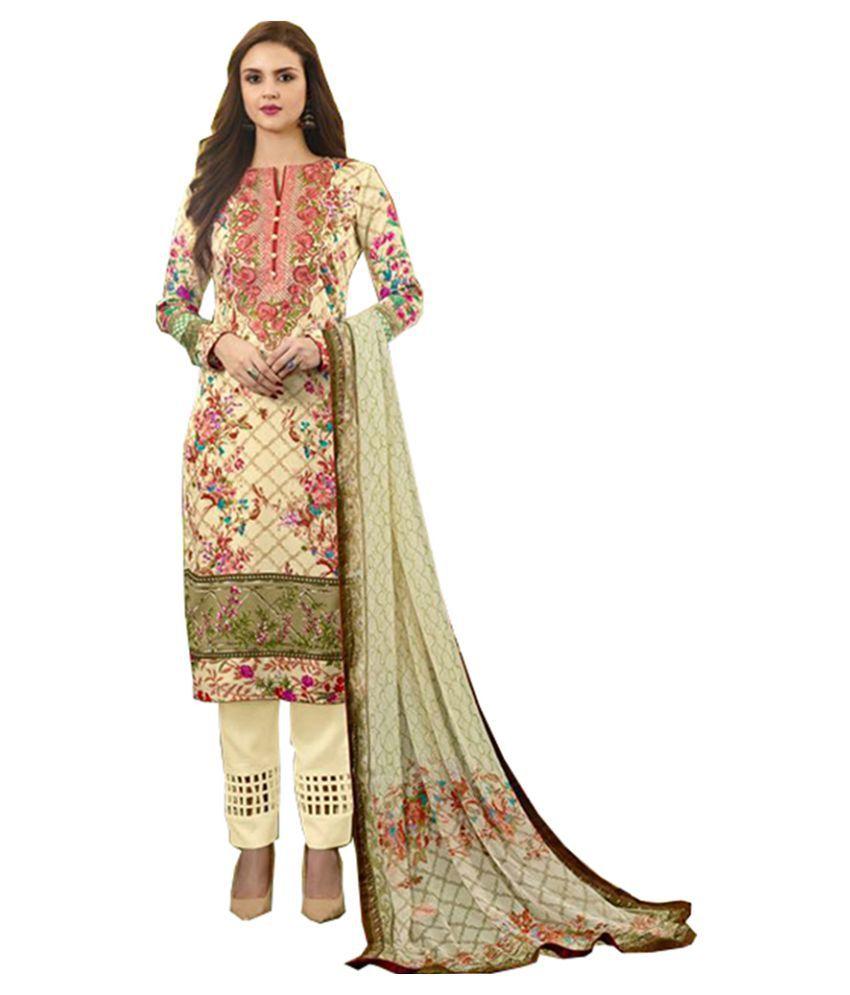Ali Colours Multicoloured Cotton Dress Material