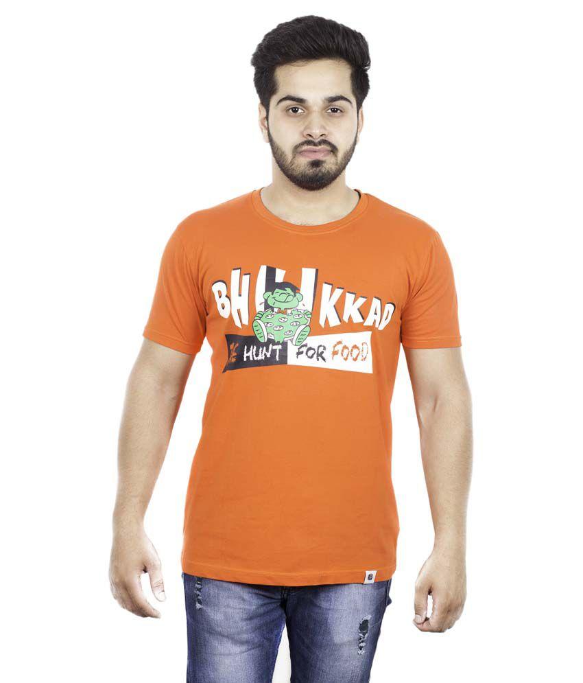 Fashion Ball Orange Round T-Shirt