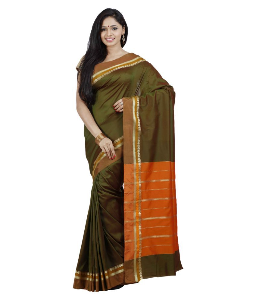 fdd20fe982 The Chennai Silks - Paisley Border Butter Silk Saree - Buy The Chennai Silks  - Paisley Border Butter Silk Saree Online at Low Price - Snapdeal.com