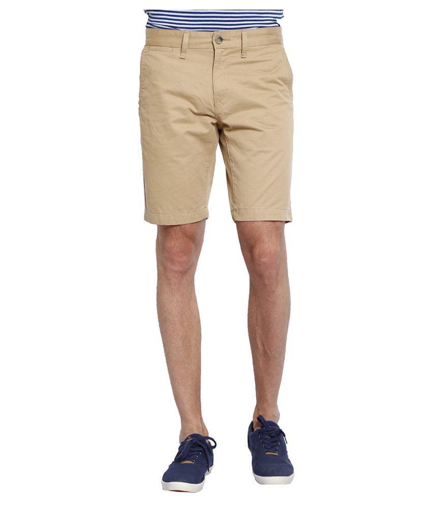 Slub Khaki Shorts