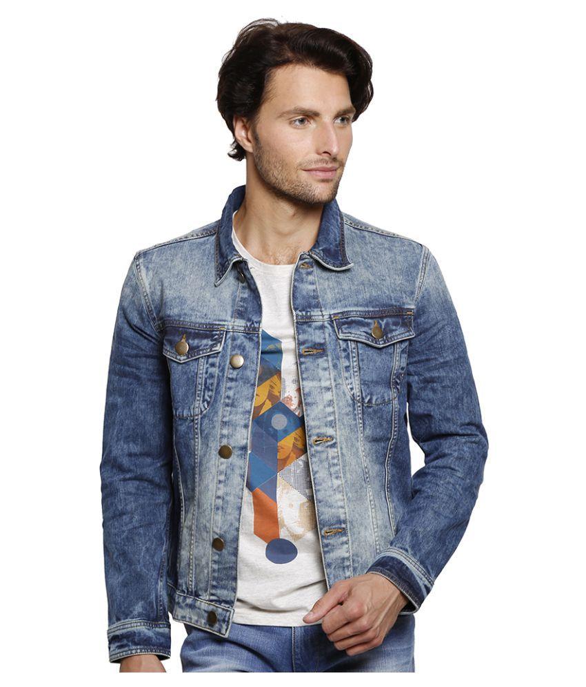 Slub Blue Denim Jacket - Buy Slub Blue Denim Jacket Online at Best ...