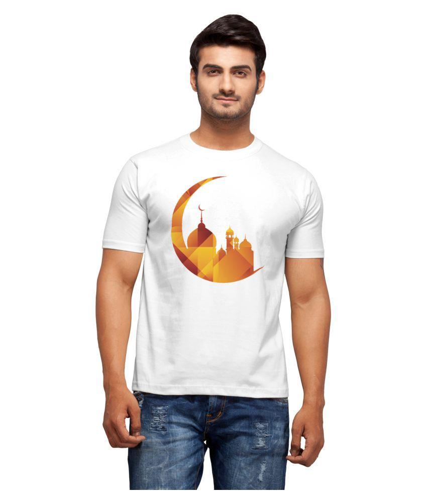 Nihaal White Round T-Shirt