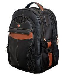 Vigne Black Solid Laptop Bags - 659557623192