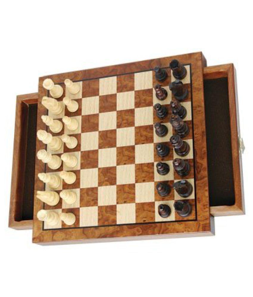 Travel Walnut Wood Chess Set
