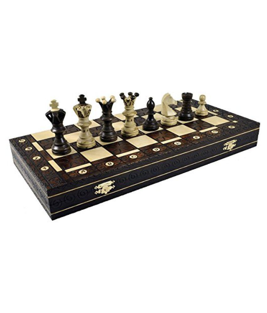 XL Royal Handcrafted Wooden Chess Maple Wood