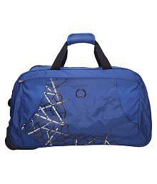 Delsey Blue Printed Duffle Bag