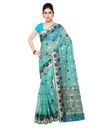 Varkala Silk Sarees Blue Chanderi Saree