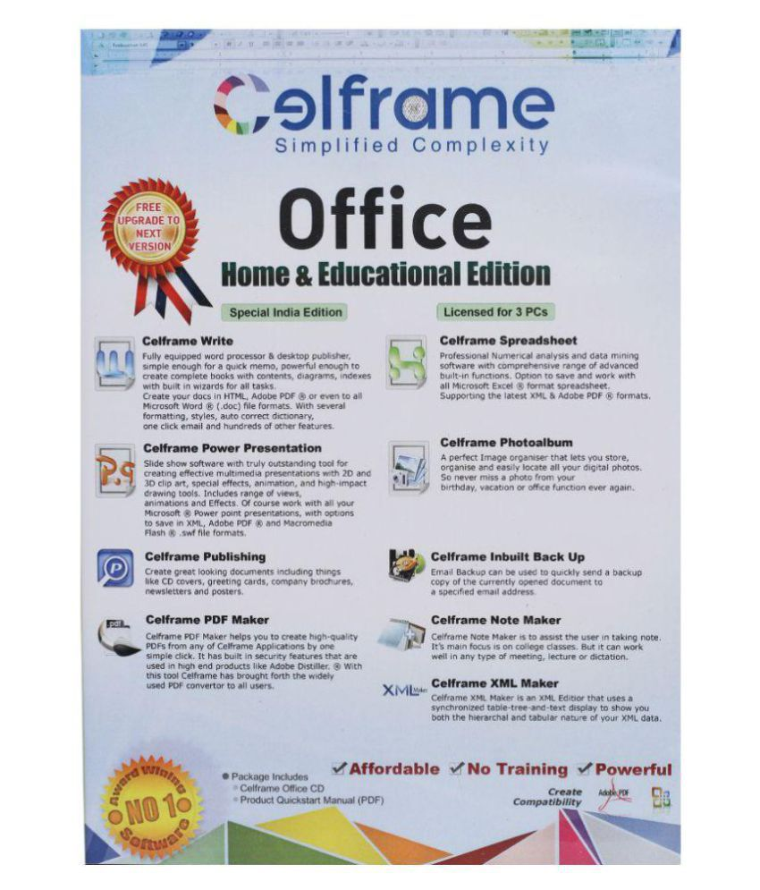 Celframe Office Any Other Home and Business ( 32 Bit ) - Buy