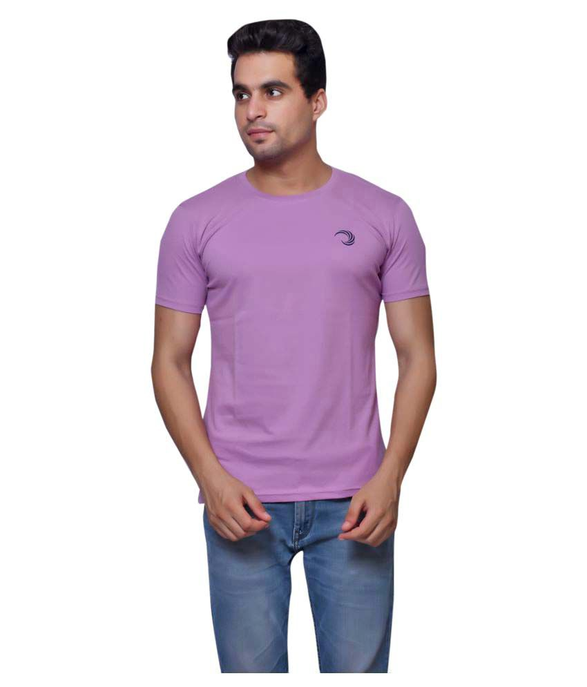 Oneliner Purple Round T-Shirt