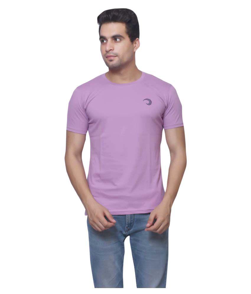 Oneliner Purple Round T-Shirt