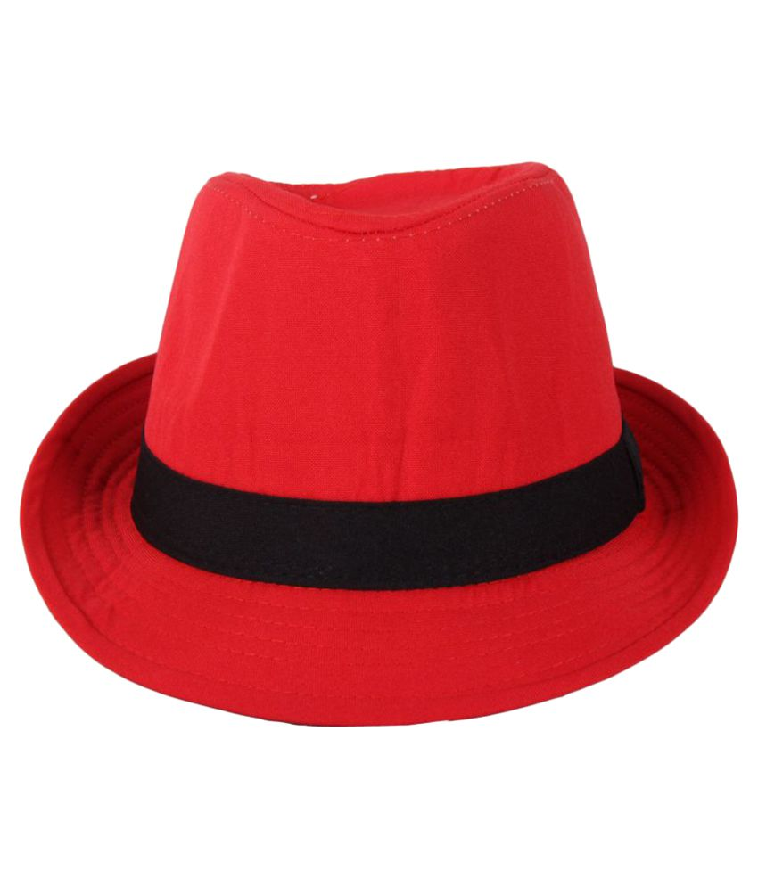 Sushito Red Plain Polyester Hats