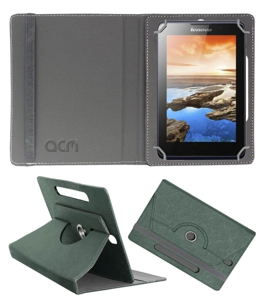 cheap for discount c00b1 acd73 Lenovo Tab A7-50 A3500 Flip Cover By Acm Black