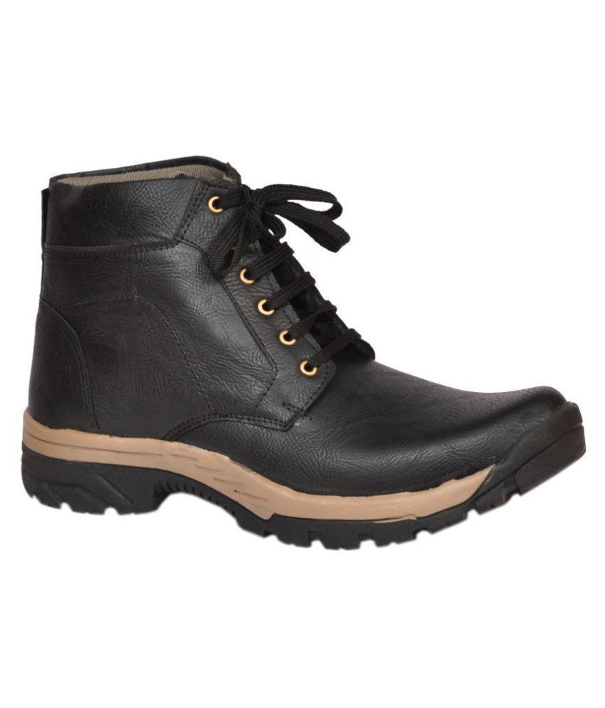Anshul Fashion Black Hiking & Trekking Boot