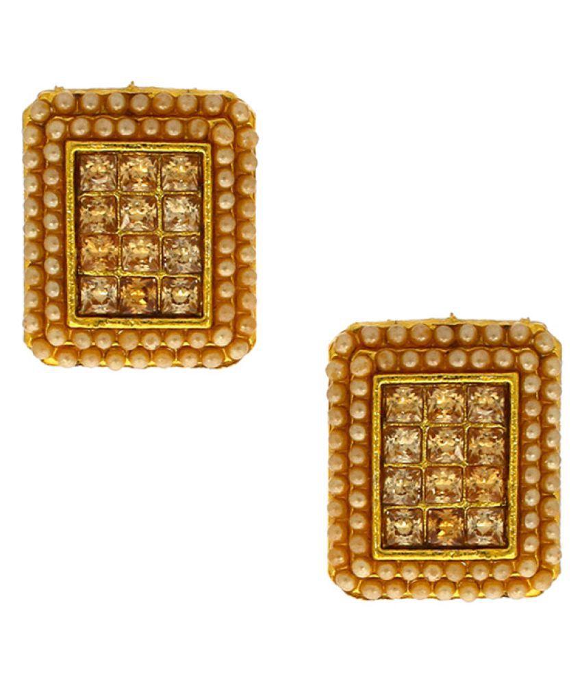 Anuradha Art Golden Earrings