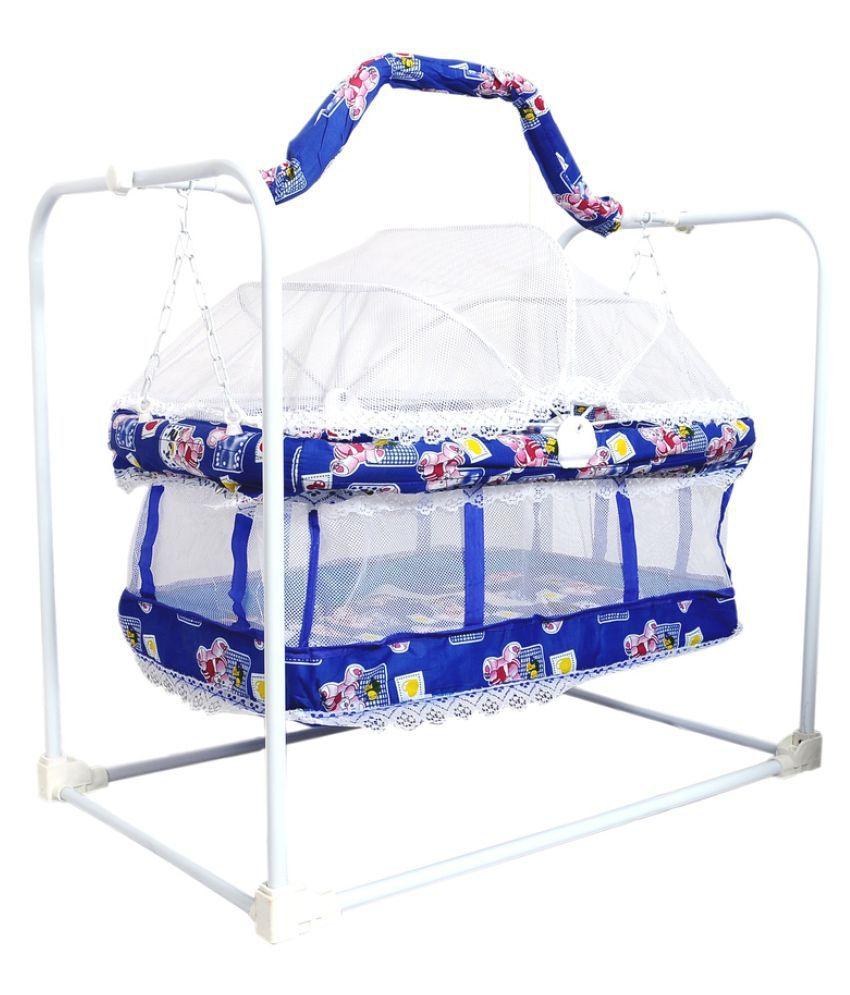 BabyGo Blue Plastic Bassinet