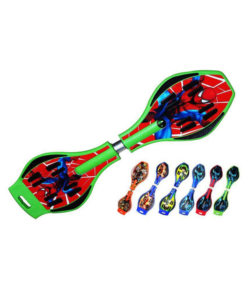 Hoteon Green Wave Board with Spider Man
