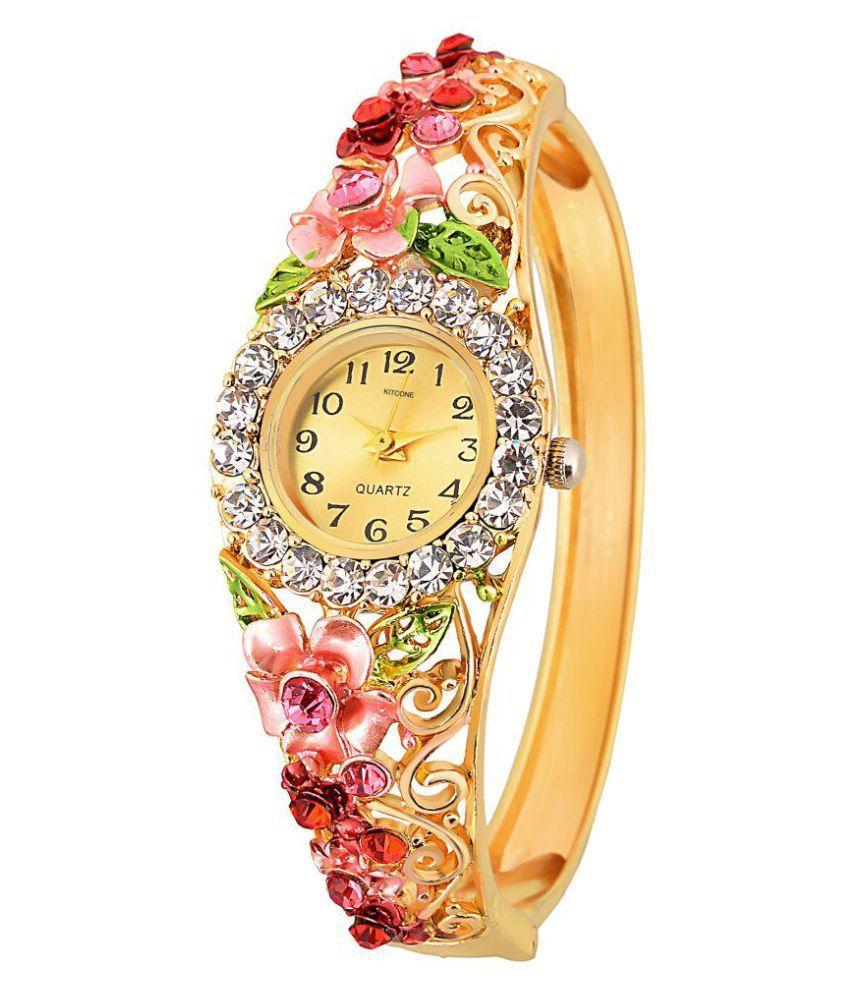 8a650b421 Kitcone Analog Multicolour-Dial Diamond Studded Bracelet Womens watch Price  in India: Buy Kitcone Analog Multicolour-Dial Diamond Studded Bracelet  Womens ...