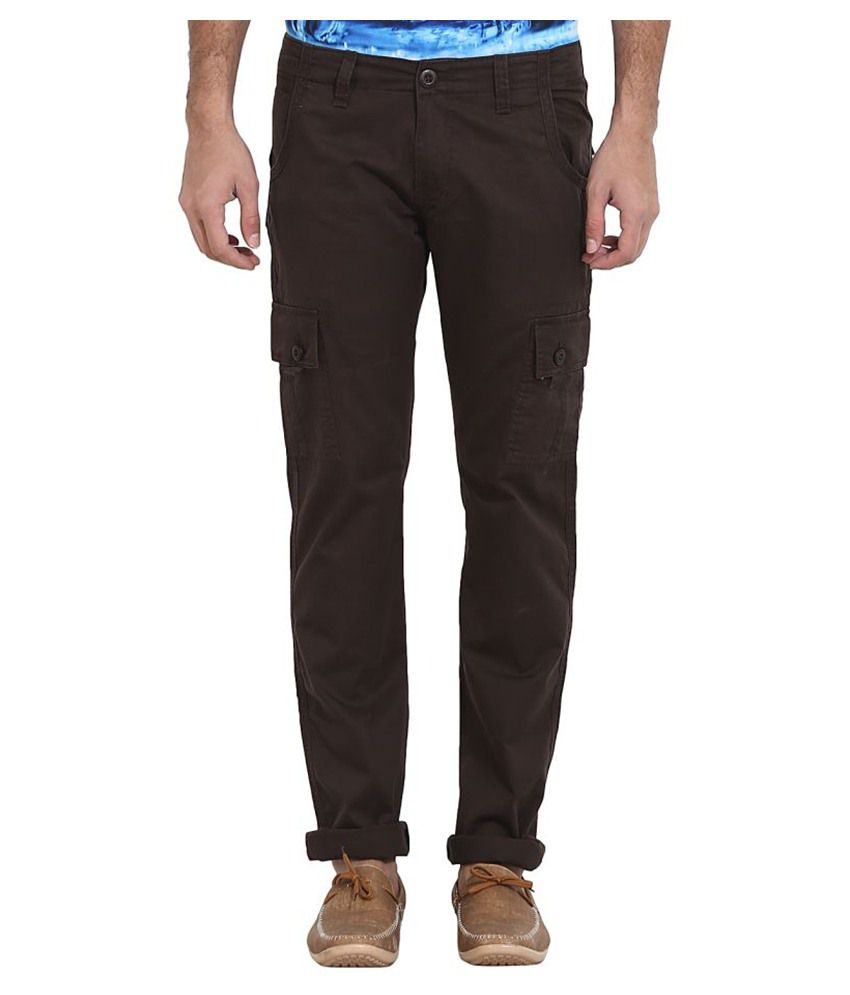 Wear Your Mind Brown Slim Flat Trouser