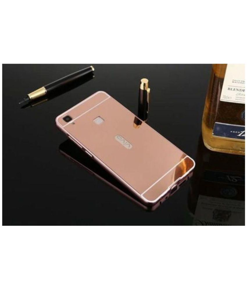 Vivo V3 Cover by feomy - Rose Gold - Plain Back Covers Online at Low Prices | Snapdeal India