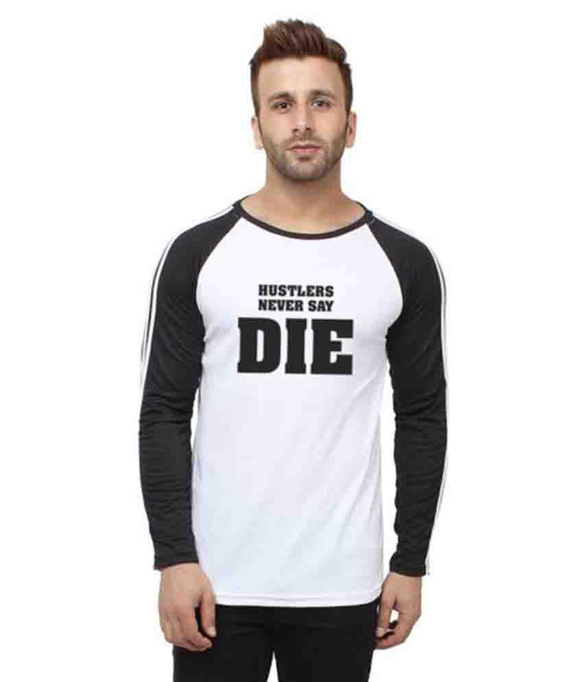 Hustle White Polyester T-Shirt Single Pack