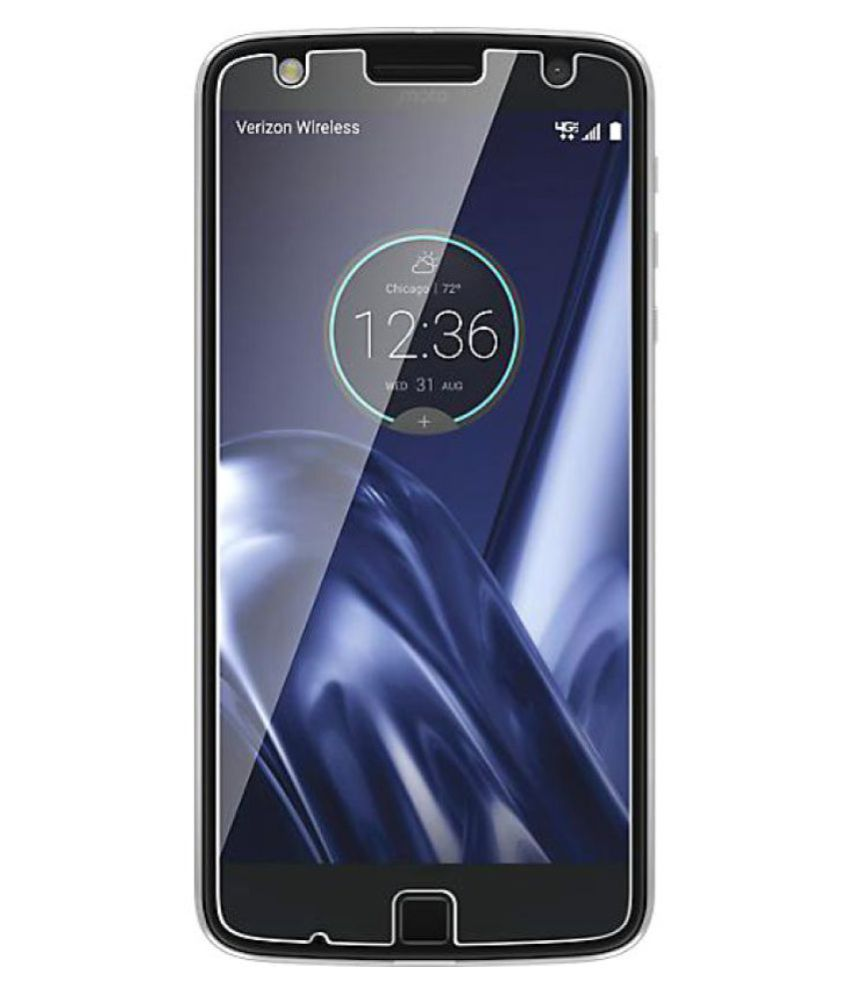 Moto Z Play Tempered Glass Screen Guard By Awin imported