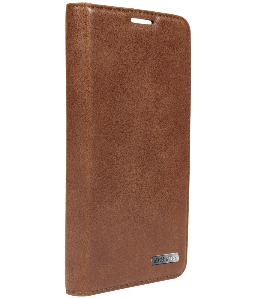 promo code 29cab 7cfef Samsung Galaxy Note Edge Flip Cover by Rich Boss - Brown