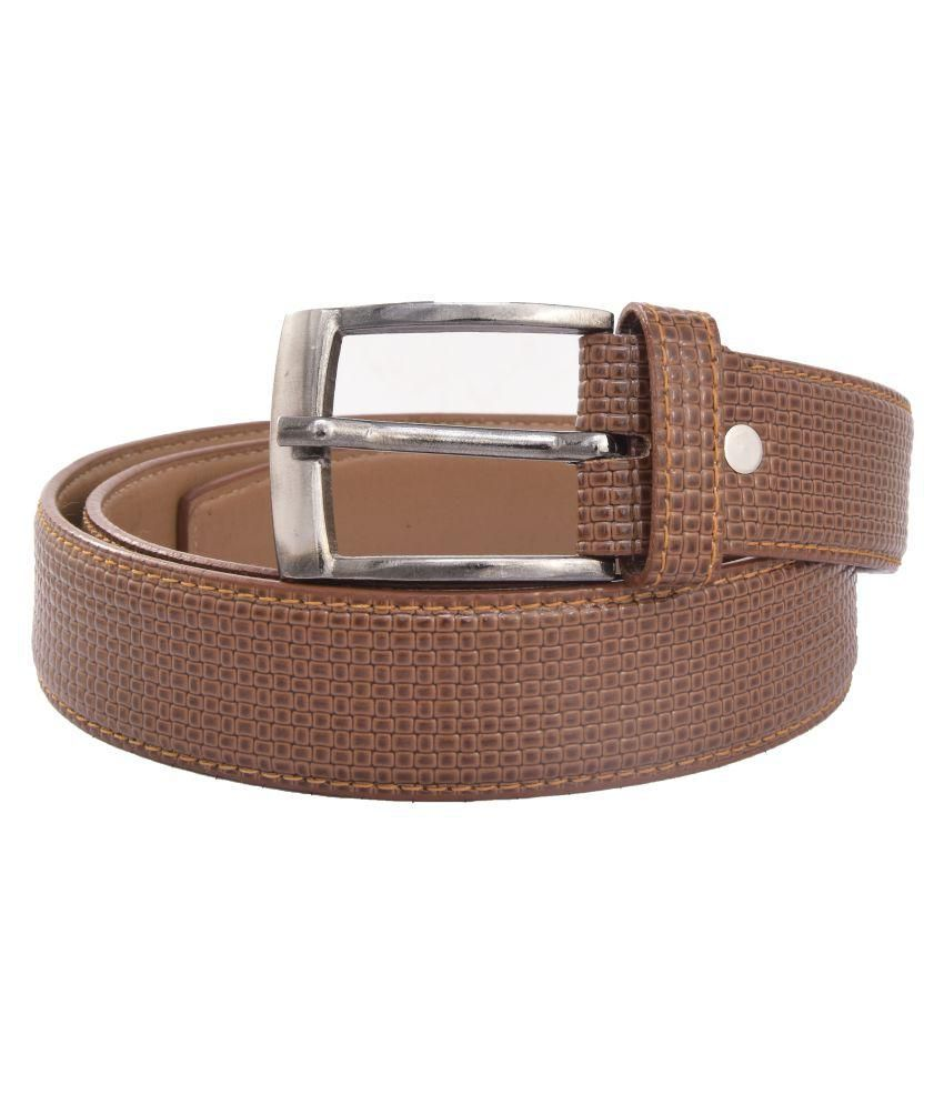 Trapos Creations Tan Leather Casual Belts