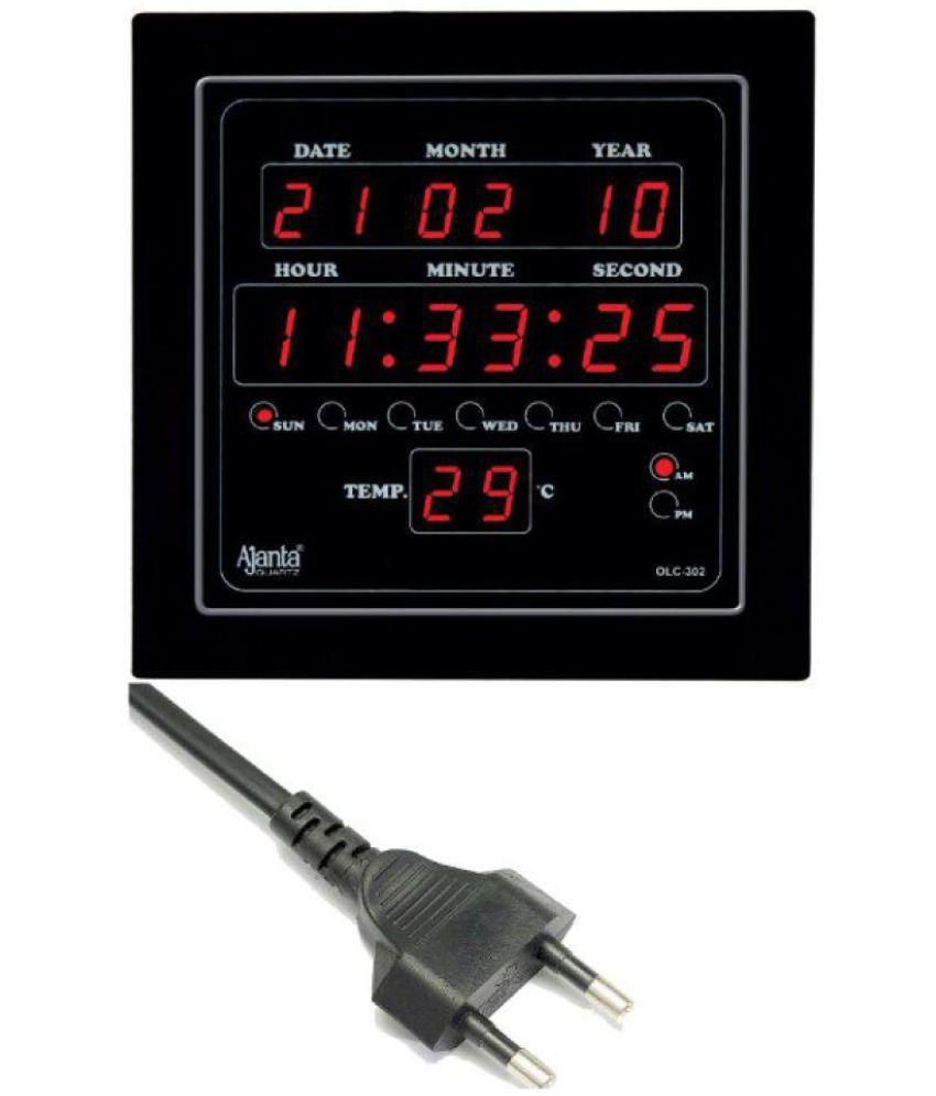 Ajanta square digital wall clock sachretails 302 0 buy ajanta ajanta square digital wall clock sachretails 302 0 amipublicfo Gallery