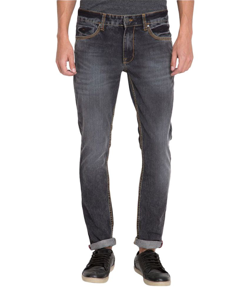 Locomotive Grey Straight Jeans