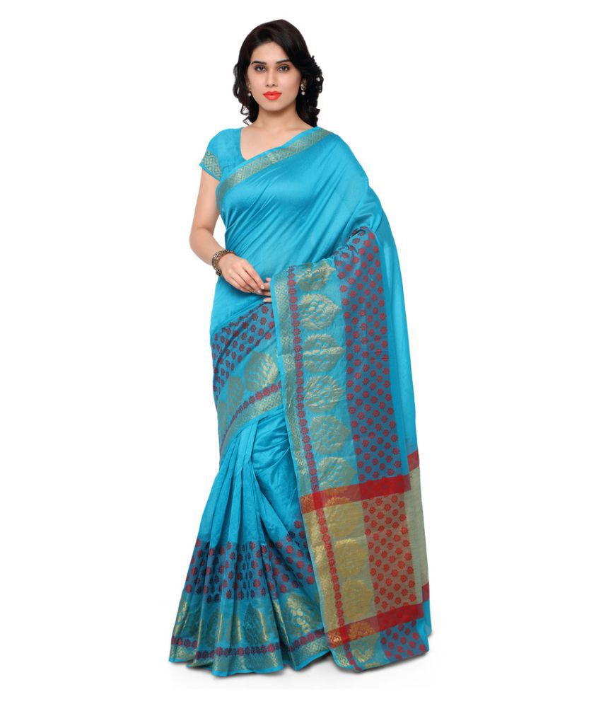 Viva N Diva Blue Banarasi Silk Saree