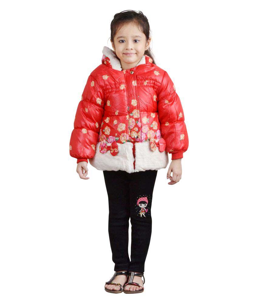 Crazeis Red Nylon Jacket