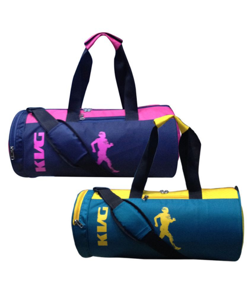 KVG Multicolour Medium Polyester Gym Bag