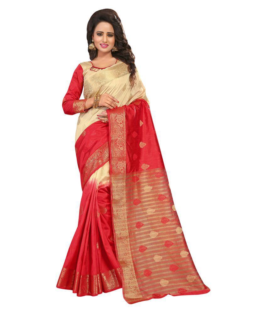 Odhni Multicoloured Silk Saree
