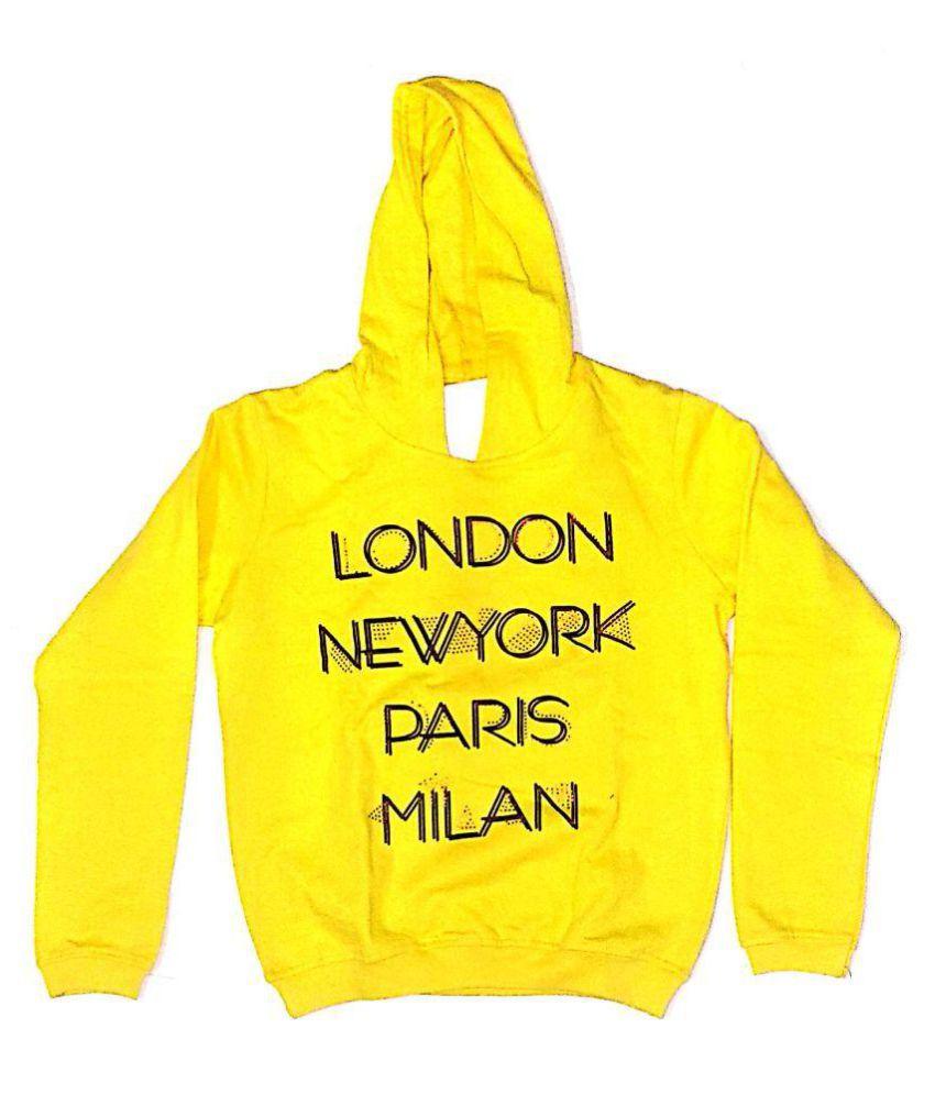 Cuddlezz Yellow Fleece Sweatshirt